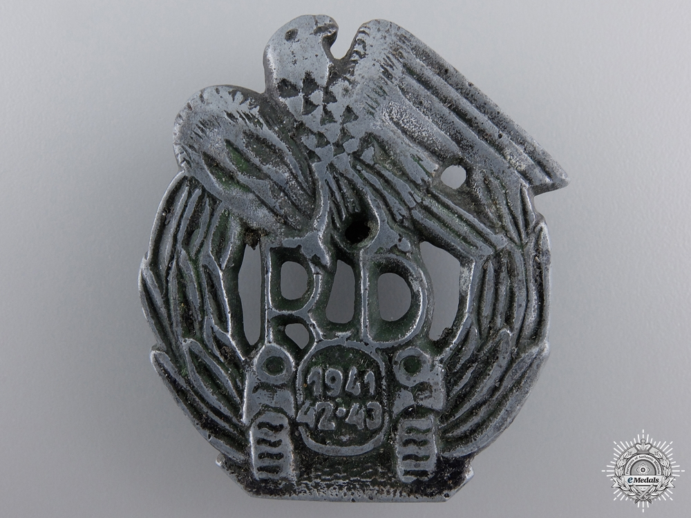eMedals-A Rare Second War 1941/43 Slovakian Motorized Units Badge
