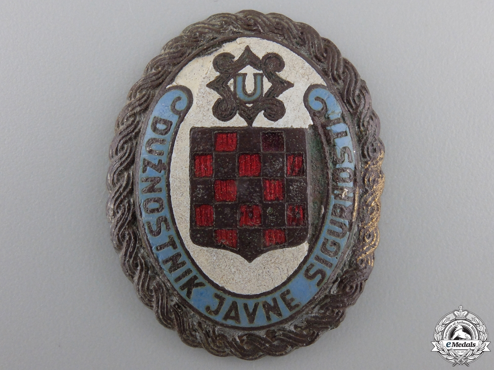 eMedals-A Rare Second War Croatian Internal Police Badge