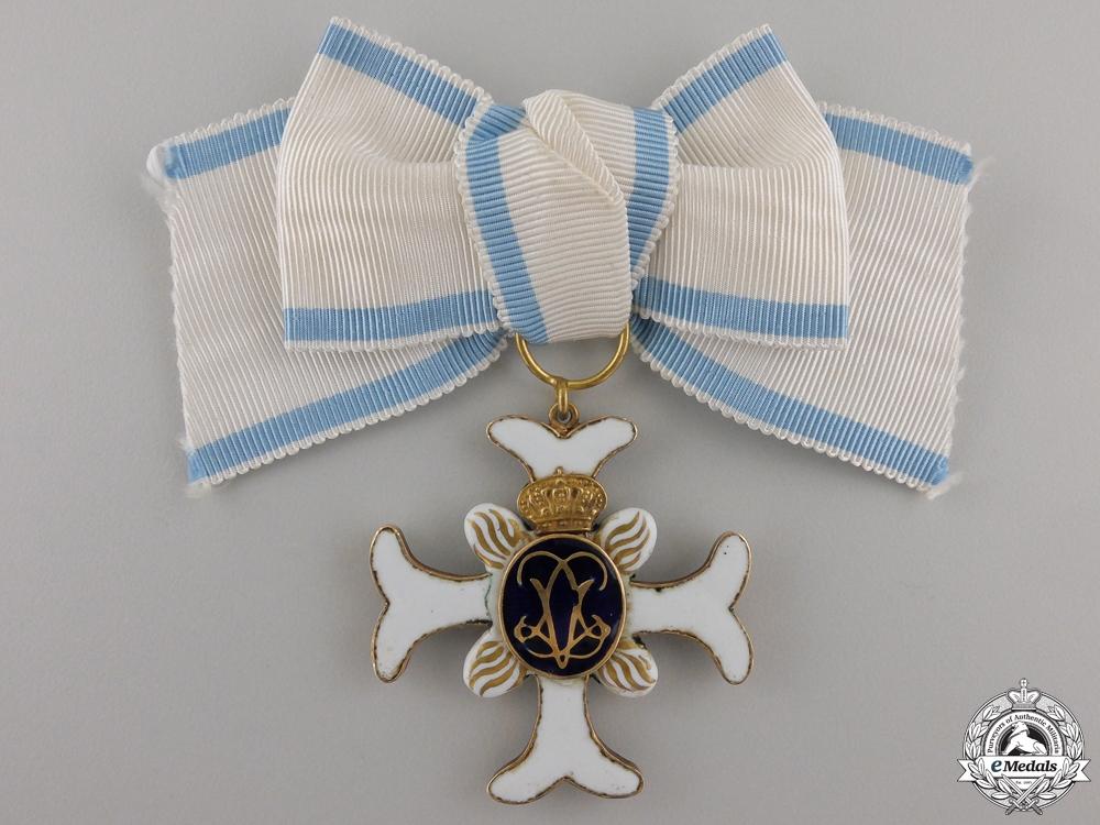 eMedals-A Rare Swedish Order of Vadstena Adliga; Ladies Cross in Gold