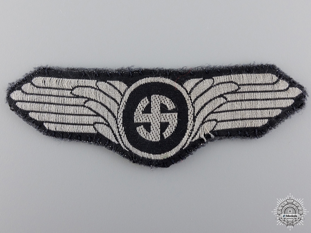eMedals-A Rare Uniform Removed Danish Schalburg Corps Cloth Insignia