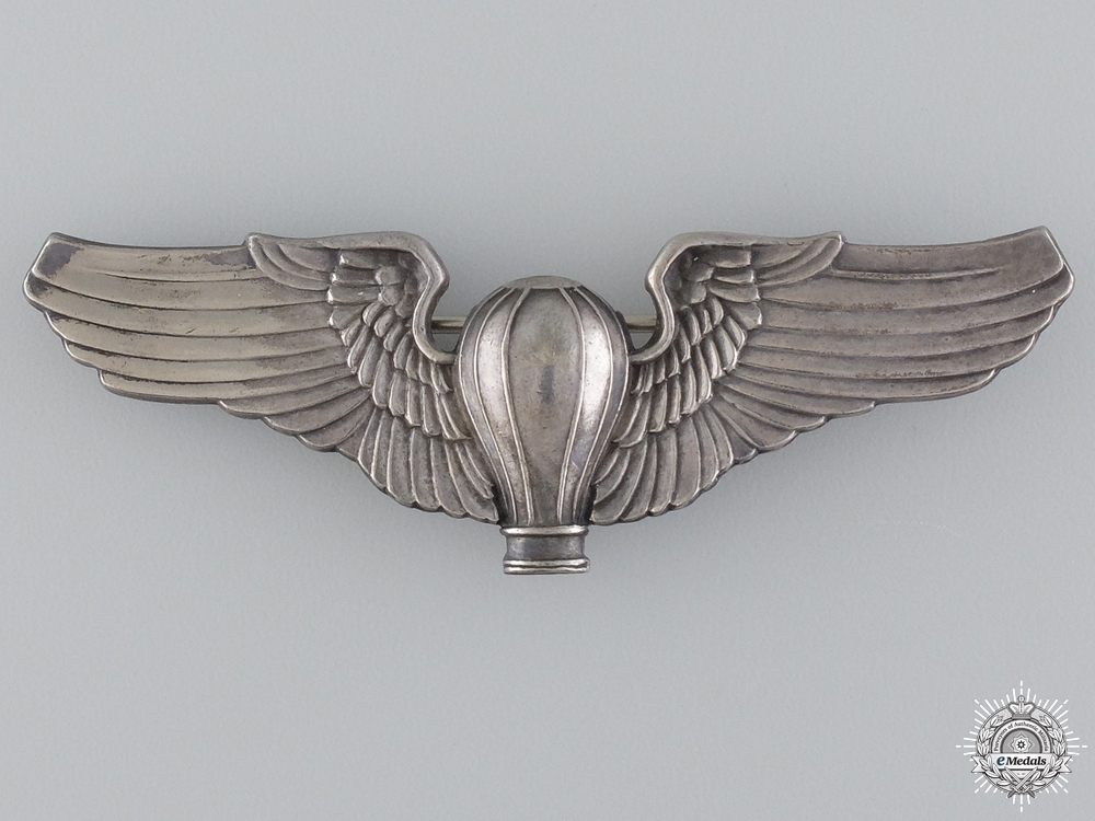 eMedals-A Rare United States Air Corps Balloon Pilot Wing