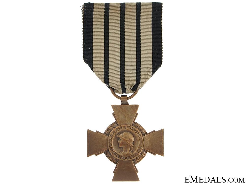 eMedals-A Rare Vichy France Combatants Cross 1939-40