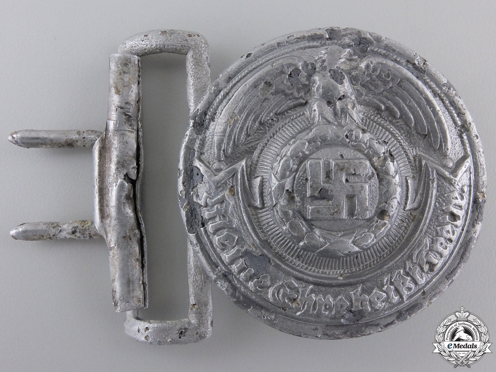eMedals-A Recovered SS Officer's Belt Buckle by Overhoff & Cie Lüdenscheid