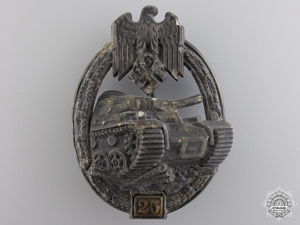 eMedals-A Recovered Tank Badge; 25 Special Grade by Gustav Brehmer