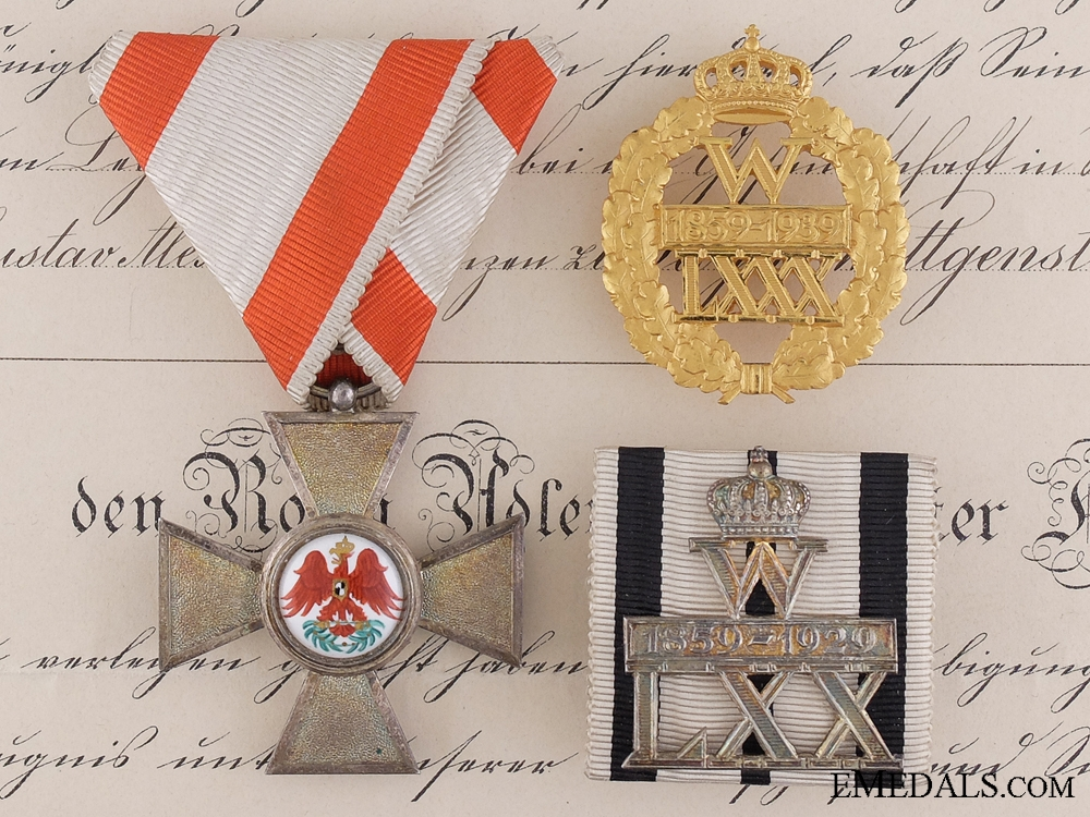 eMedals-A Red Eagle Order to German Ambassador in Copenhagen 1913