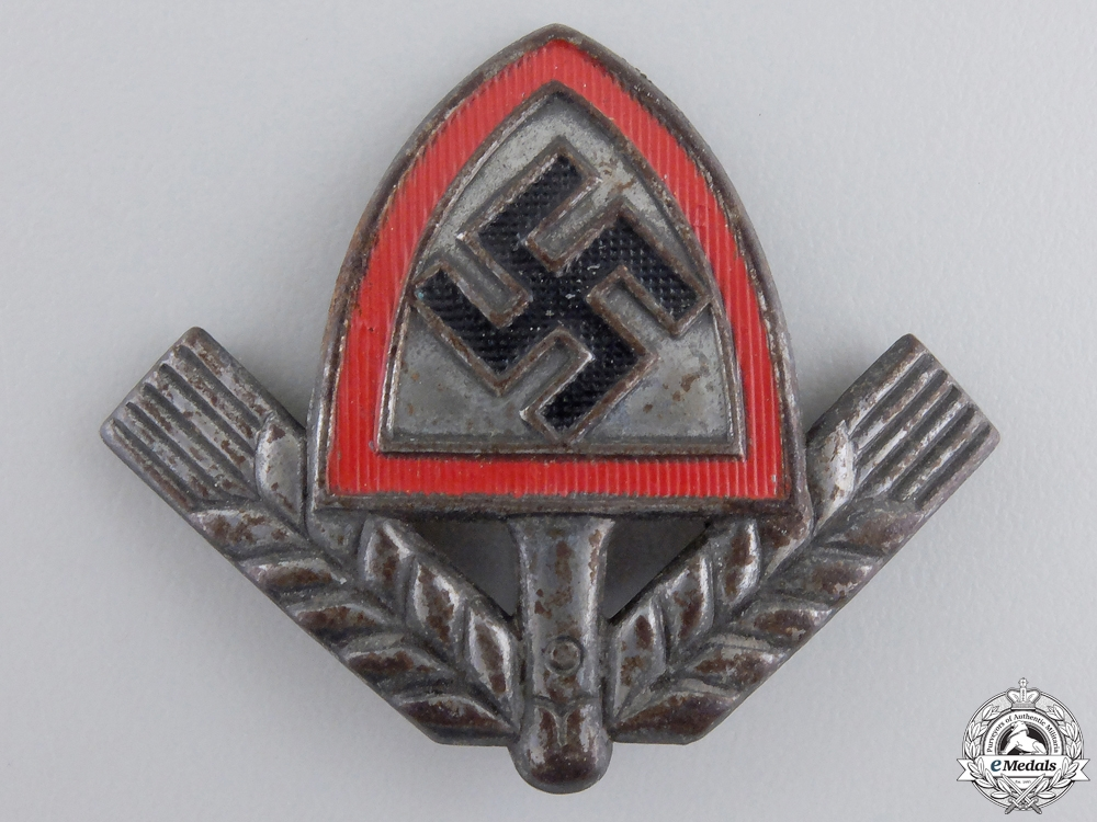 eMedals-A Reich Labour Service (RAD) Cap Badge; Marked
