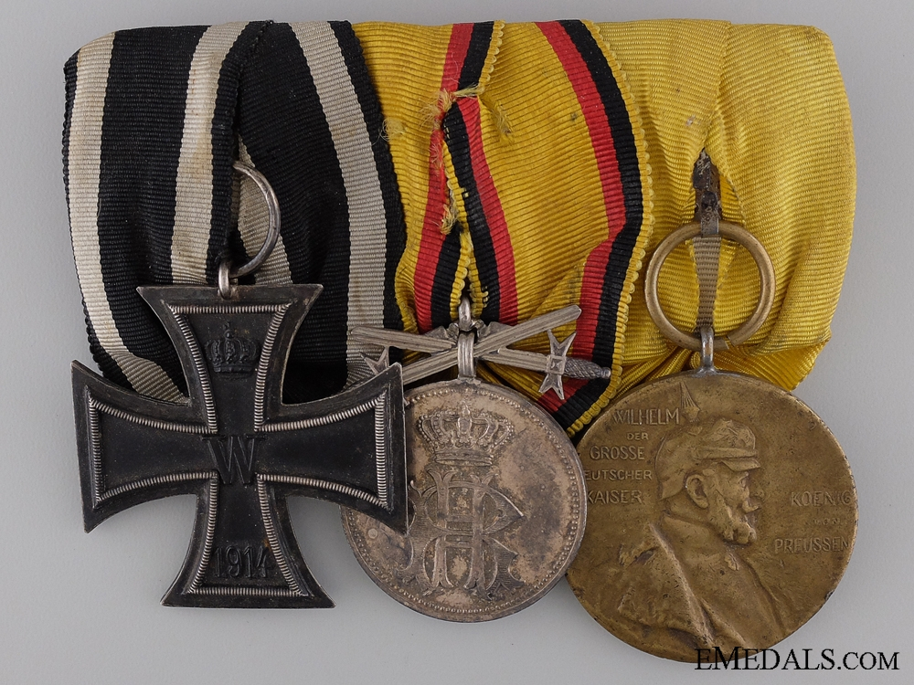 eMedals-A Reuss First War Medal Bar with Three Awards