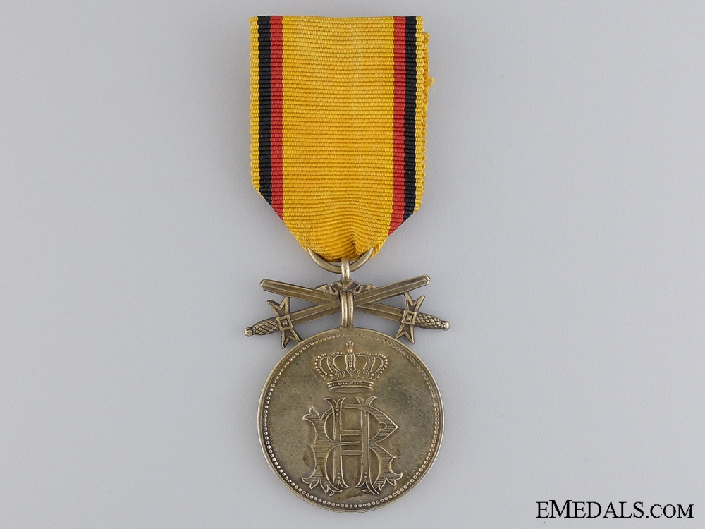 eMedals-A First War Reuss Merit Medal; Gold Grade