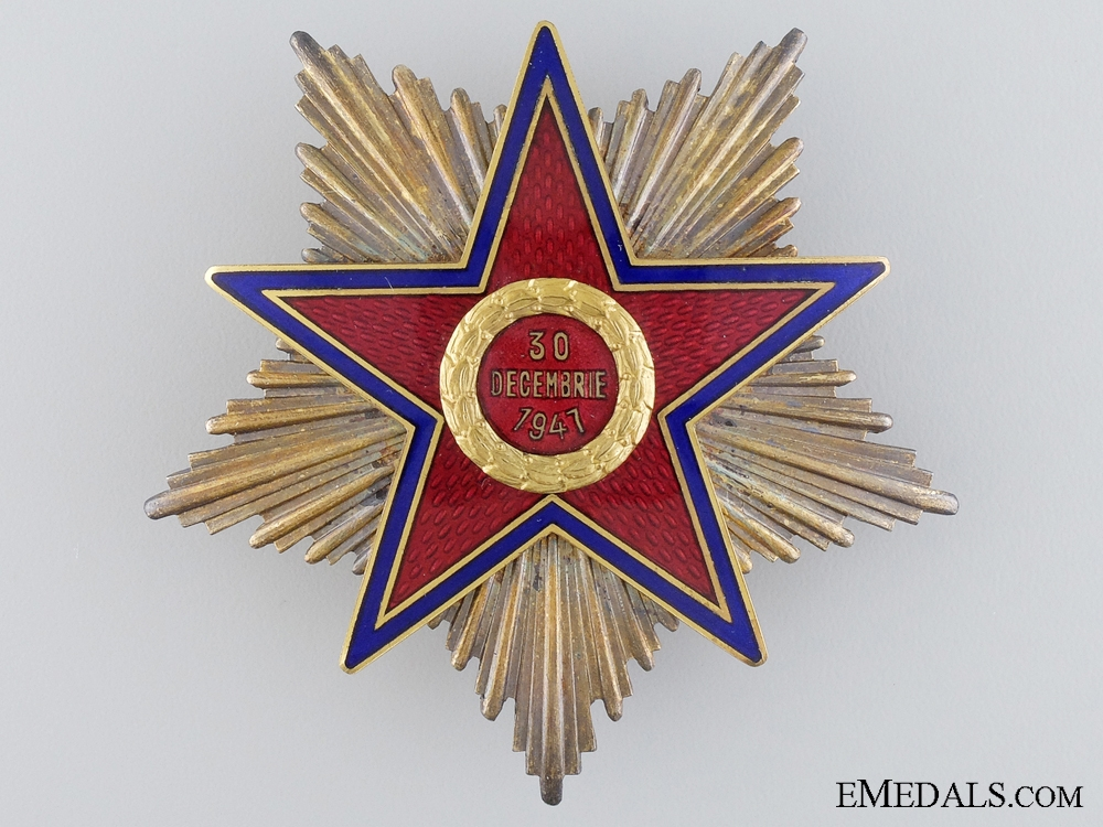 eMedals-A Romanian Order of the Star of the People's Republic; First Class