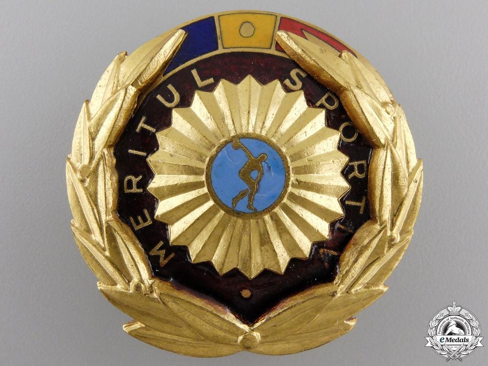 eMedals-A Romanian Order of Sport Merit; 1st Class