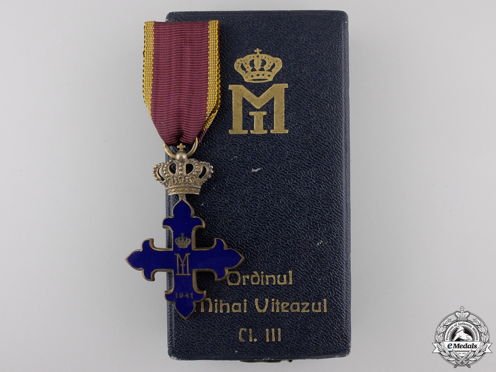 eMedals-A Romanian Order of Michael the Brave; Knight's Cross with Case