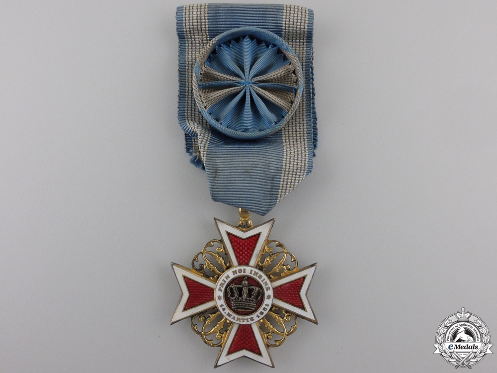 eMedals-A Romanian Order of the Crown; Officer's