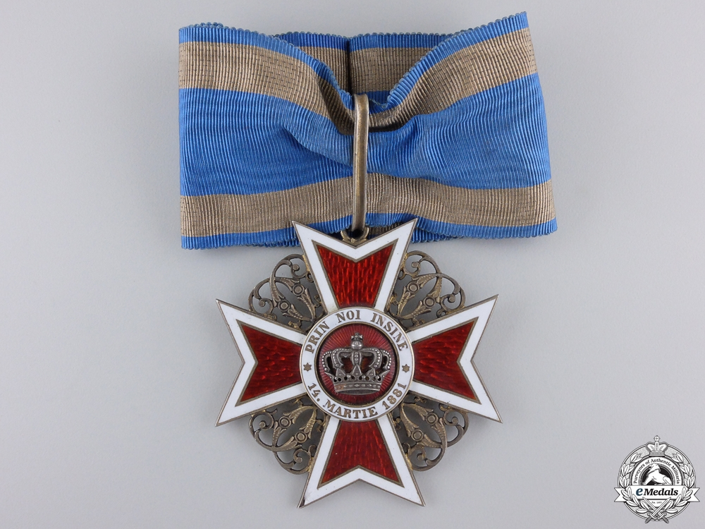 eMedals-A Romanian Order of the Crown; Commander's Cross by  J. Resch