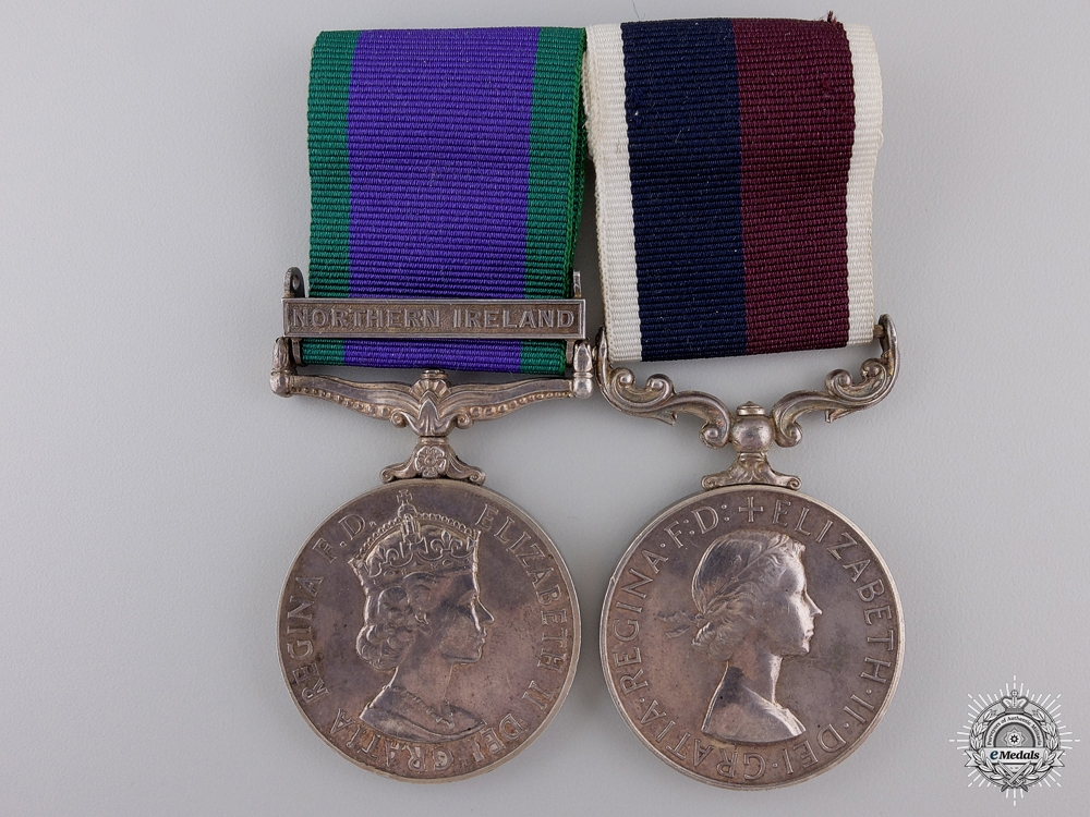 eMedals-A Royal Air Force Northern Ireland & Long Service Pair