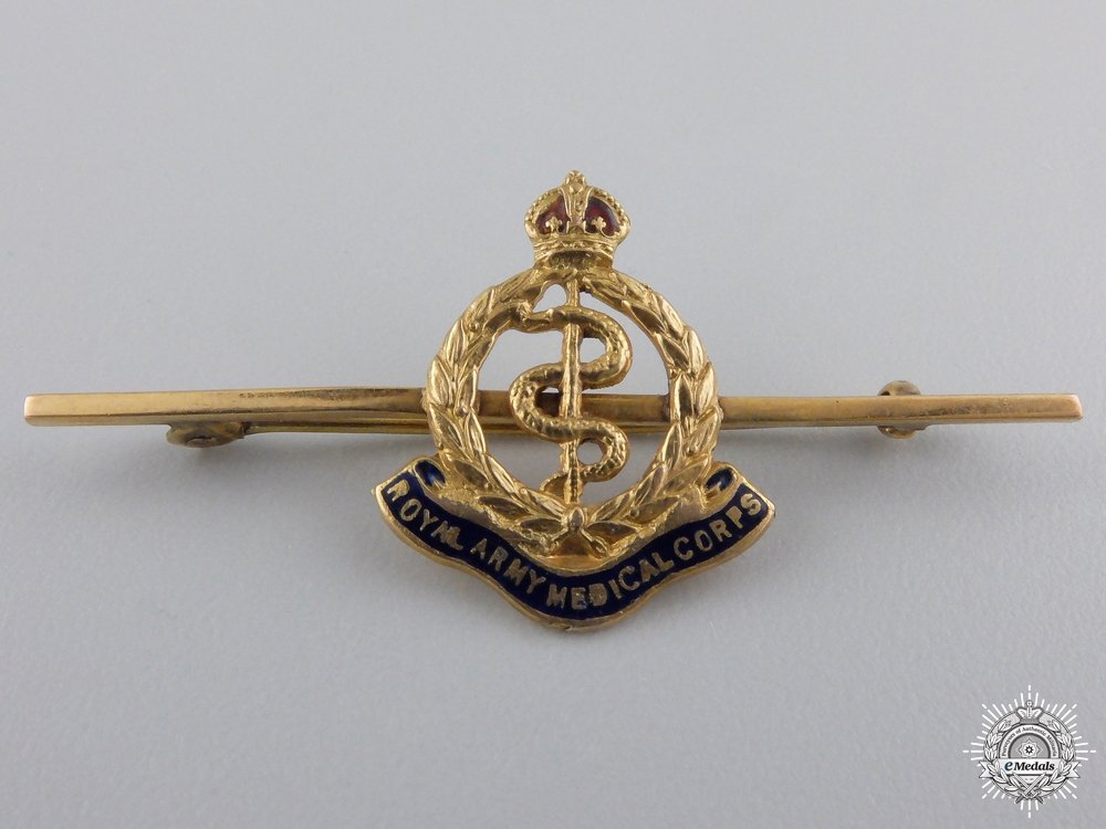 eMedals-A Royal Army Medical Corps Sweetheart Badge in Gold