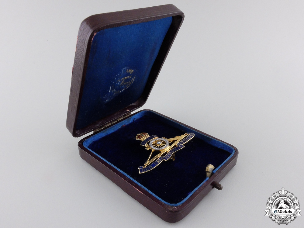 eMedals-A Royal Artillery Pin in Gold and Diamonds  consignment #17