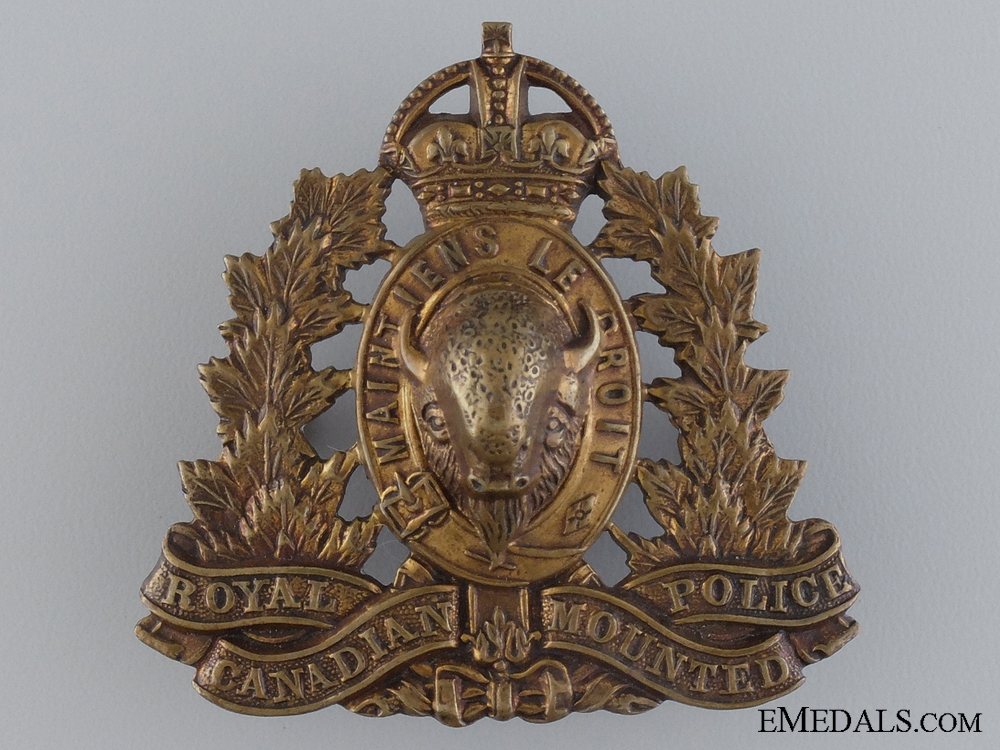 eMedals-A Royal Canadian Mounted Police Cap Badge