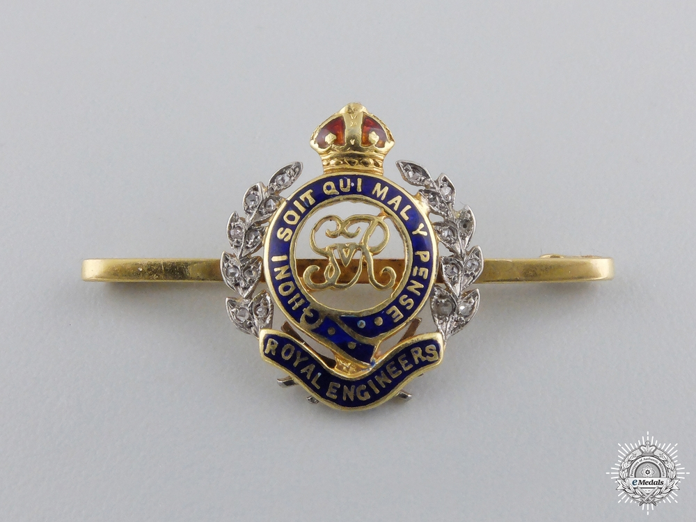 eMedals-A Royal Engineers Sweetheart Badge in Gold & Diamonds