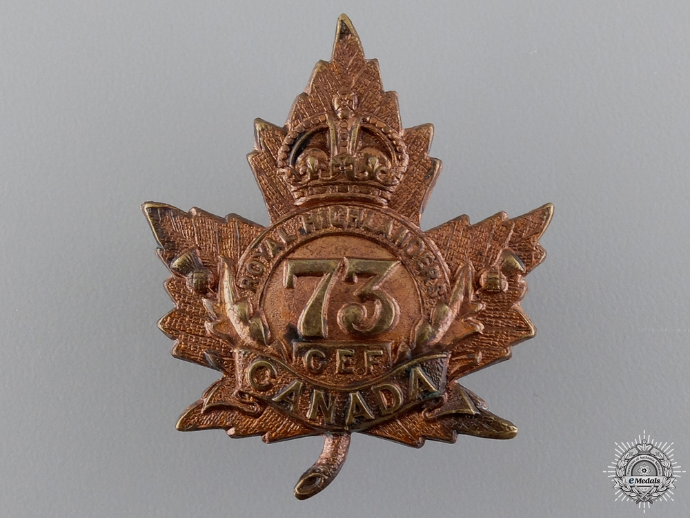 eMedals-A Royal Highlanders of Canada (Black Watch) CEF Cap Badge
