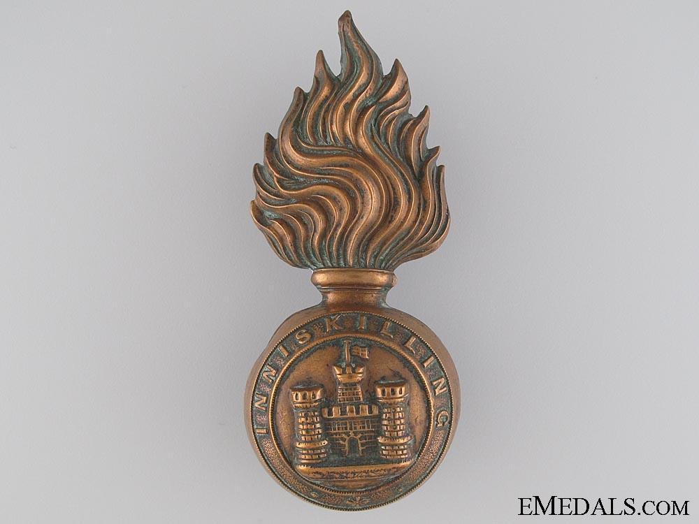 eMedals-A Royal Inniskilling Fusilers Grenade Badge