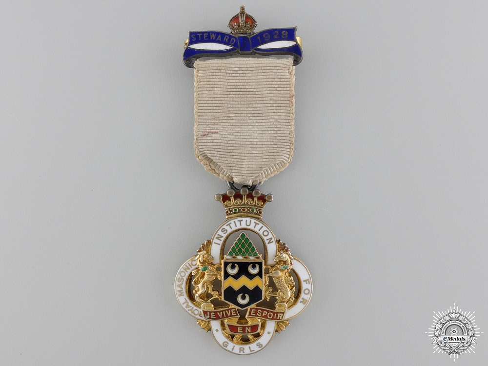 eMedals-A Royal Masonic Institution for Girls (RMIG) Silver Stewards Jewel