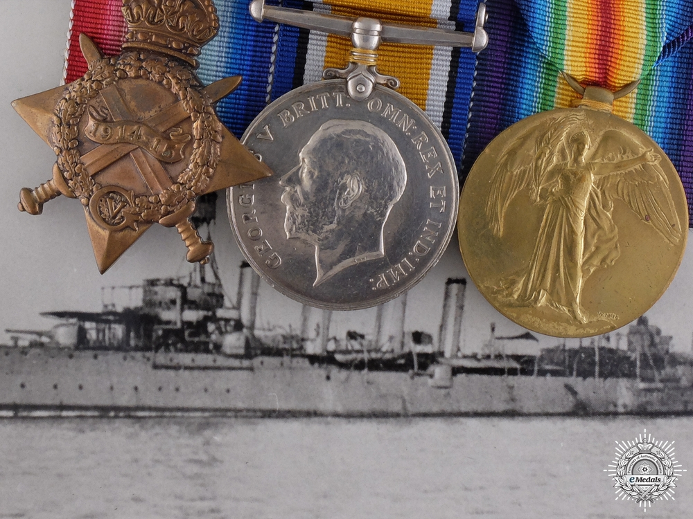 eMedals-A Royal Navy Group to Lieut. White who took part in the Battle of Jutland