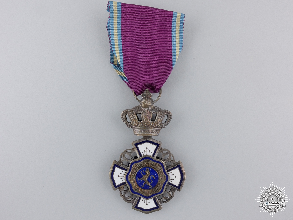 eMedals-A Royal Order of the Lion (Belgium Congo); Knight's Badge