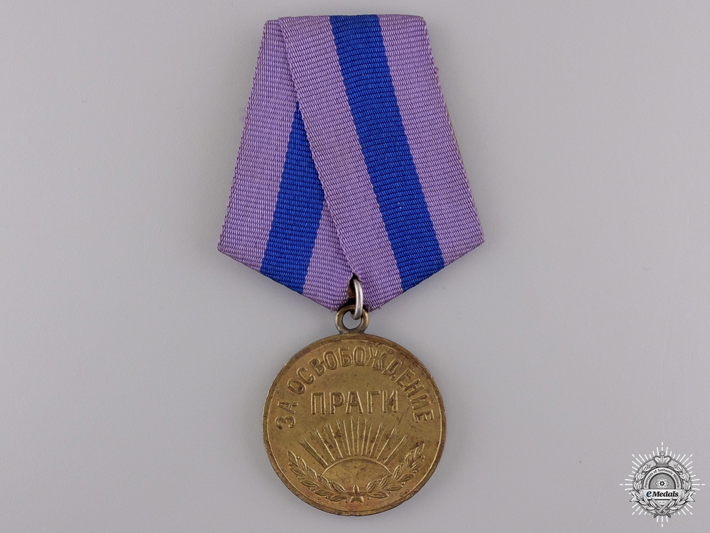 eMedals-A Russian 1945 Liberation of Prague Campaign Medal