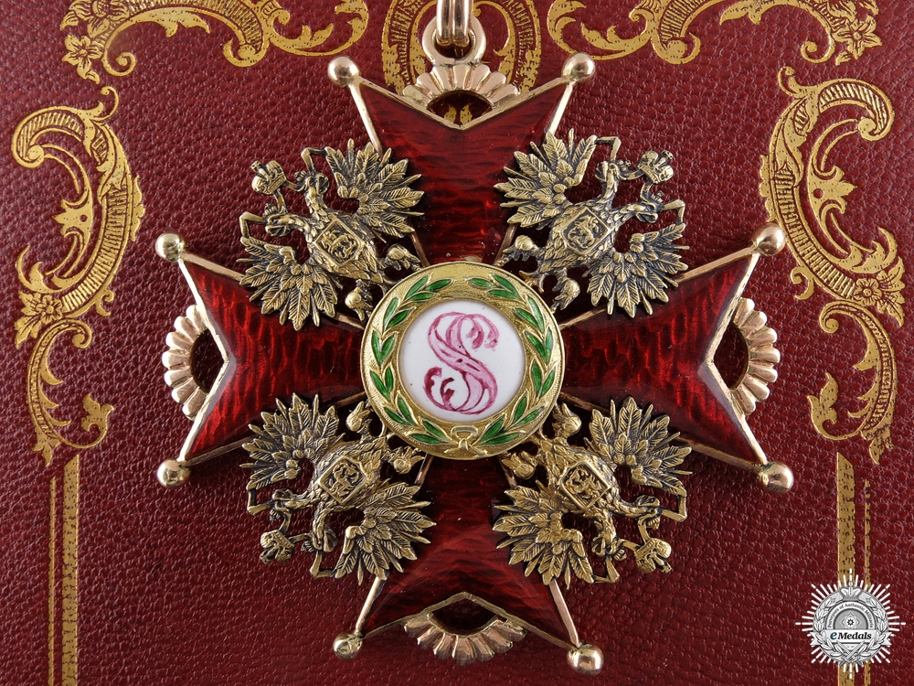 eMedals-A Russian 1st Class Order of St. Stanislaus in Gold by Eduard