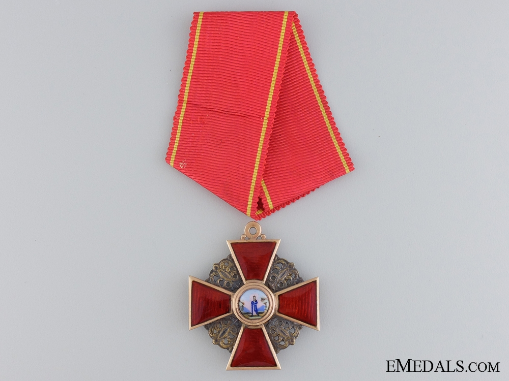 eMedals-A Russian Order of St.Anne in Gold; Third Class by Albert Keibel