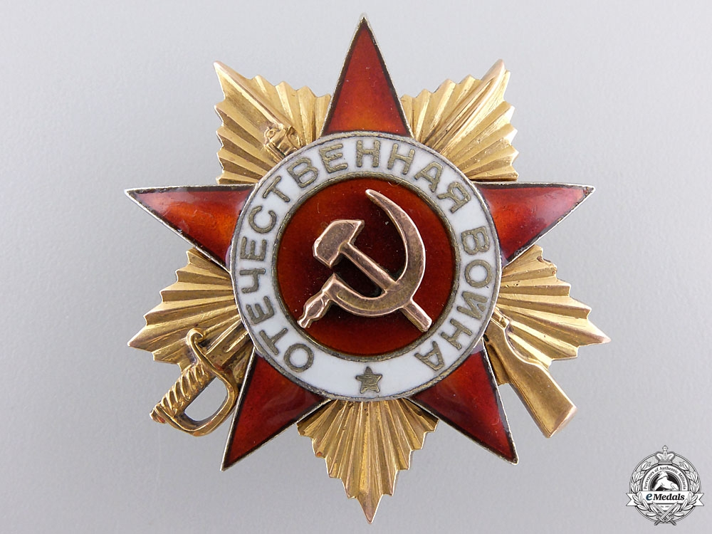 eMedals-A Russian Order of the Patriotic War; First Class in Gold