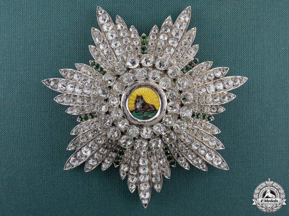 eMedals-A Russian Produced Iranian Order of Lion & Sun; 19th Century Star