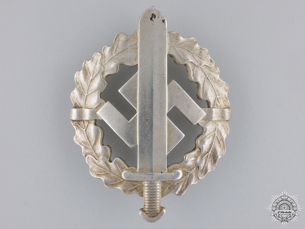 eMedals-A SA Sport Badge; Silver Grade
