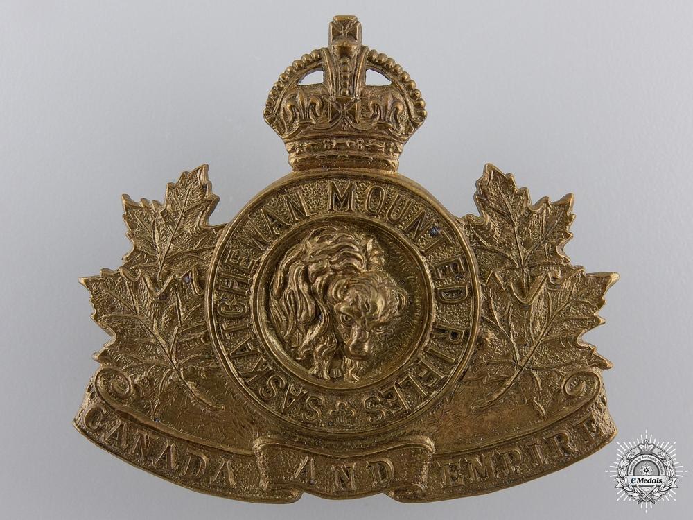 eMedals-A Saskatchewan Mounted Rifles Cap Badge