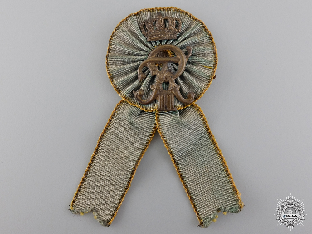 eMedals-A Saxon Friedrich III Honour Badge
