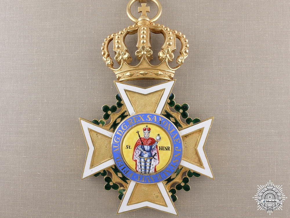 eMedals-A Saxon Military Order of St. Henry (1736-1917); Grand Cross in Gold
