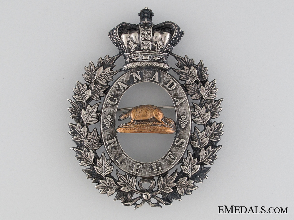 eMedals-A Scarce 1840's Canadian Rifles Shako Plate