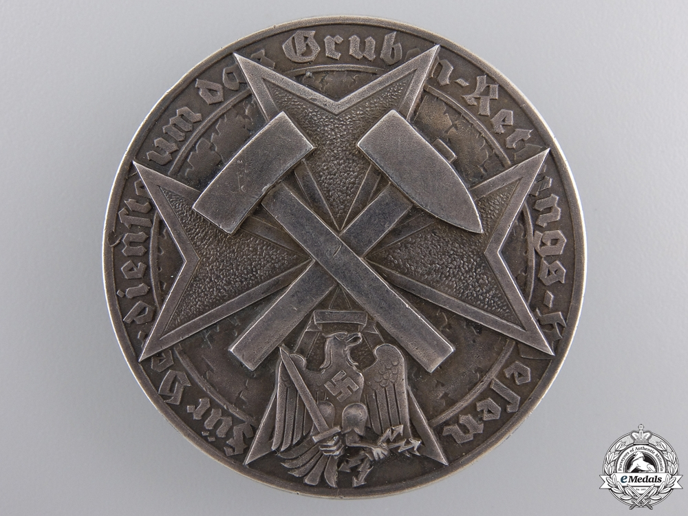 eMedals-A Scarce German Mine Rescue Decoration