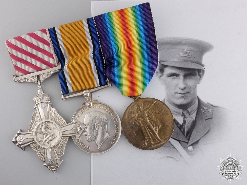 eMedals-A Scarce Great War Air Force Cross Group to No. 55 Squadron