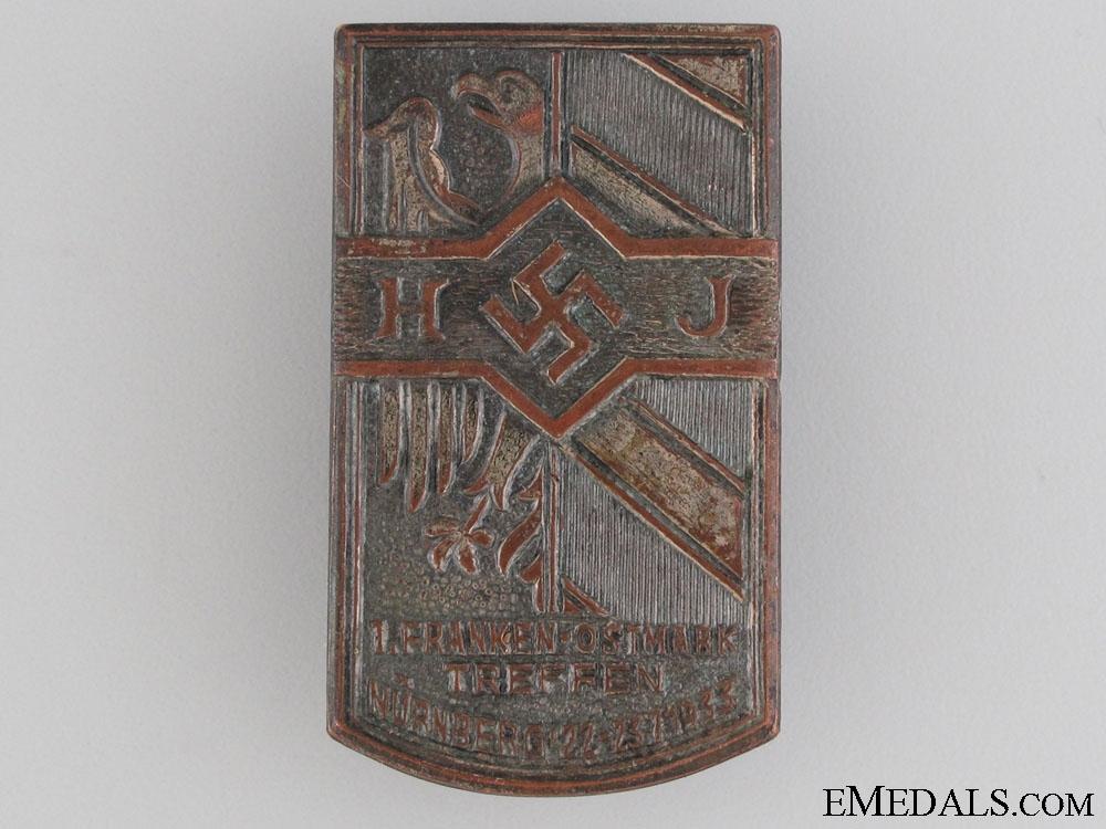 eMedals-A Scarce HJ Tinnie, Nürnberg, 1933