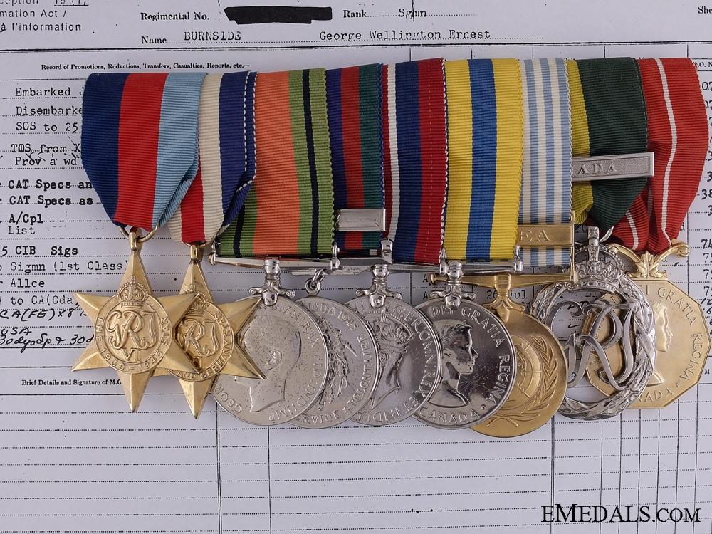 eMedals-A Second & Korean War Efficiency Medal Bar to Lt. Burnside