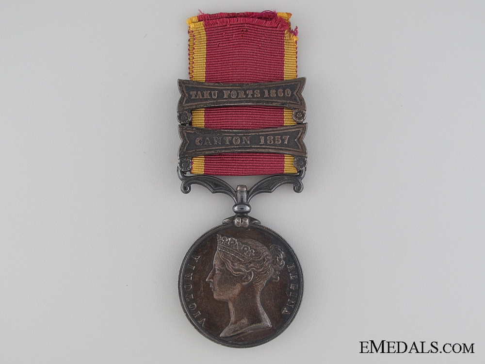 eMedals-A Second China War Medal 1857-1860 Un-named