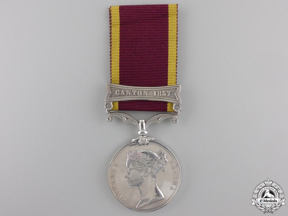 eMedals-A Second China War Medal 1857-1860; Canton 1857