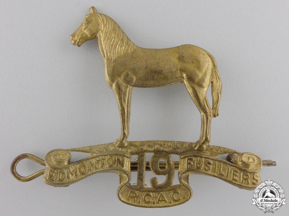 eMedals-A Second War 19th Alberta Dragoons (Edmonton, AB) Cap Badge