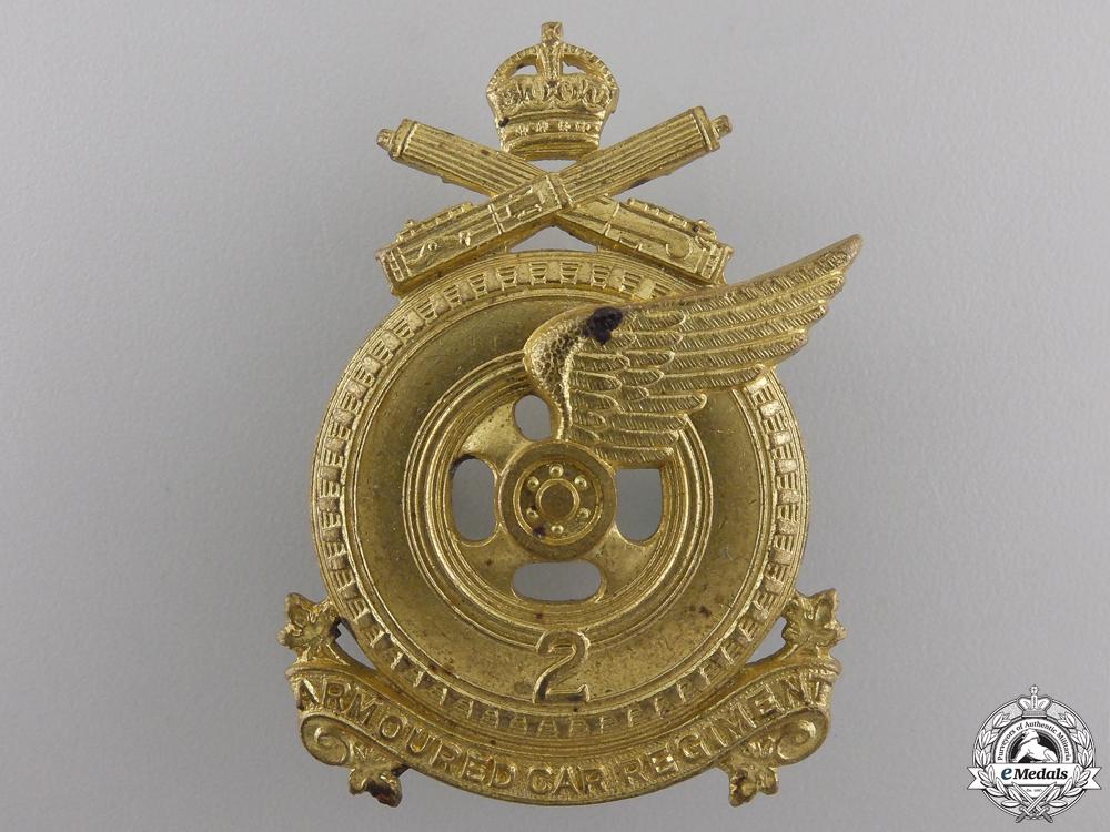 eMedals-A Second War 2nd Armoured Car Regiment Cap Badge