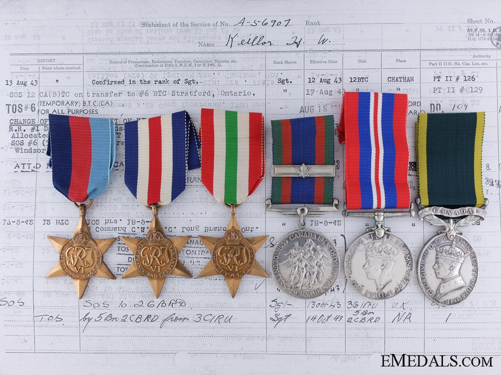 eMedals-A Second War & Korea Group to the Hastings & Prince Edward Regiment