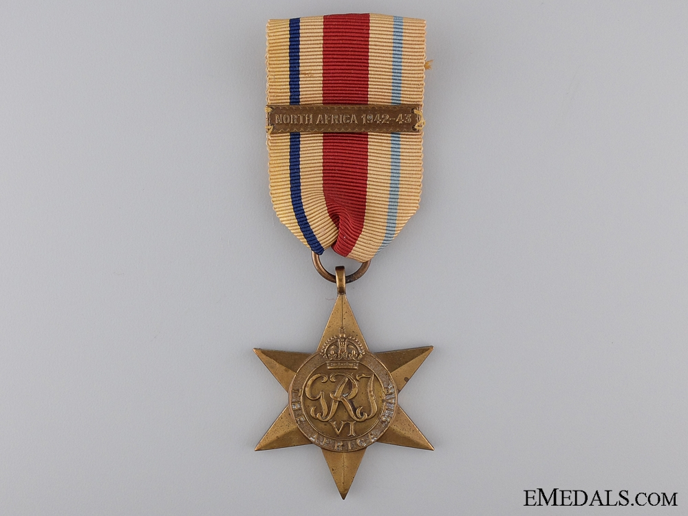 eMedals-A Second War Africa Star with North Africa Clasp