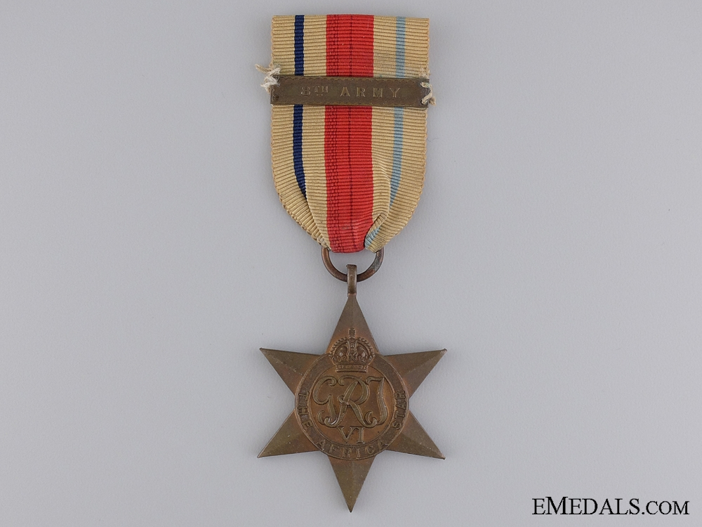 eMedals-A Second War Africa Star; 8th Army Bar