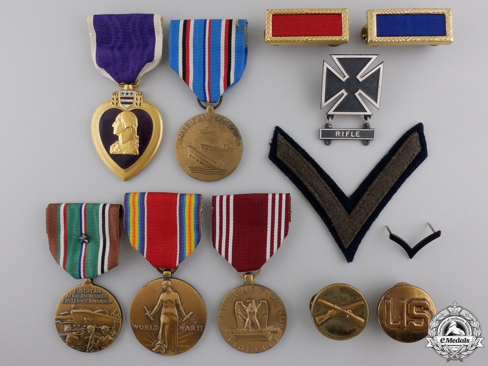 eMedals-A Second War American Purple Heart Medal Group