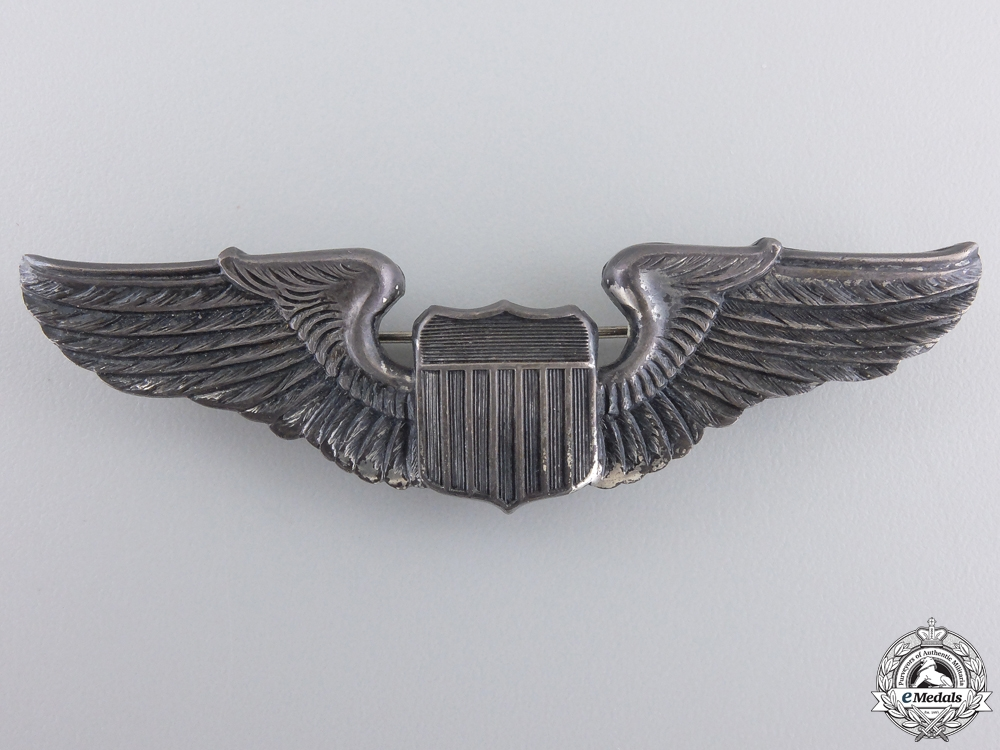 eMedals-A Second War American Army Air Force Pilot Badge